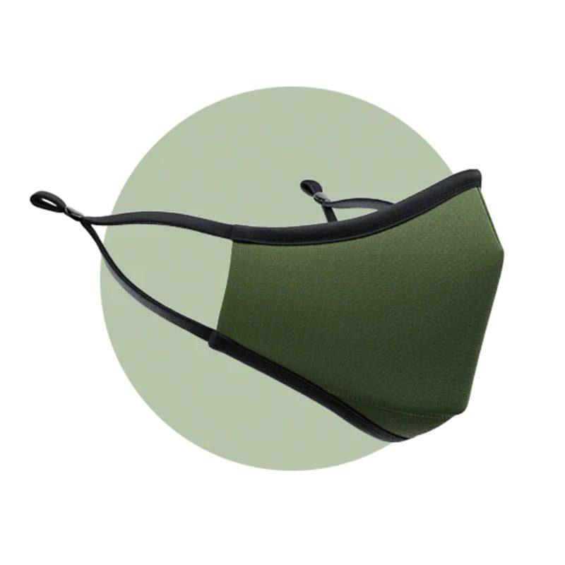 Masques en tissu pour enfant Vert Olive avec filtres nanofibres