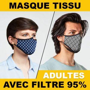 Masques en tissu Adultes avec filtres nanofibres